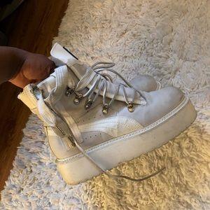 White Fenty Puma Boots